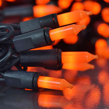 Orange Halloween Indoor Outdoor Miniature String Lights