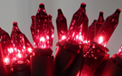 Red Christmas Lights - Green Wire - 100 Miniature String Lights - 904767