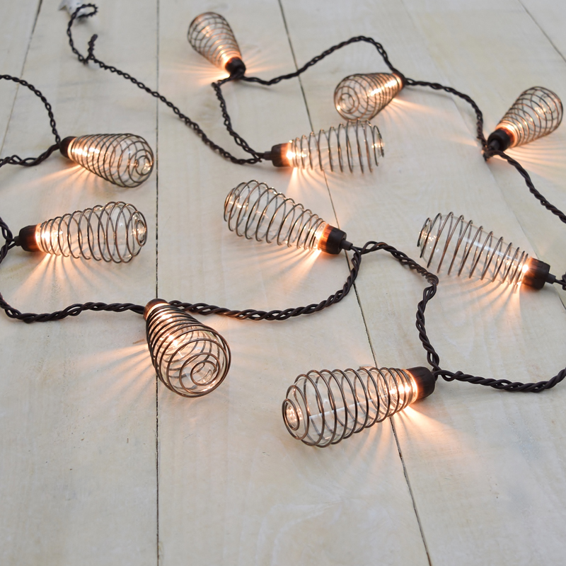 Hardwired Outdoor String Lights : Wire Spiral Patio String Lights