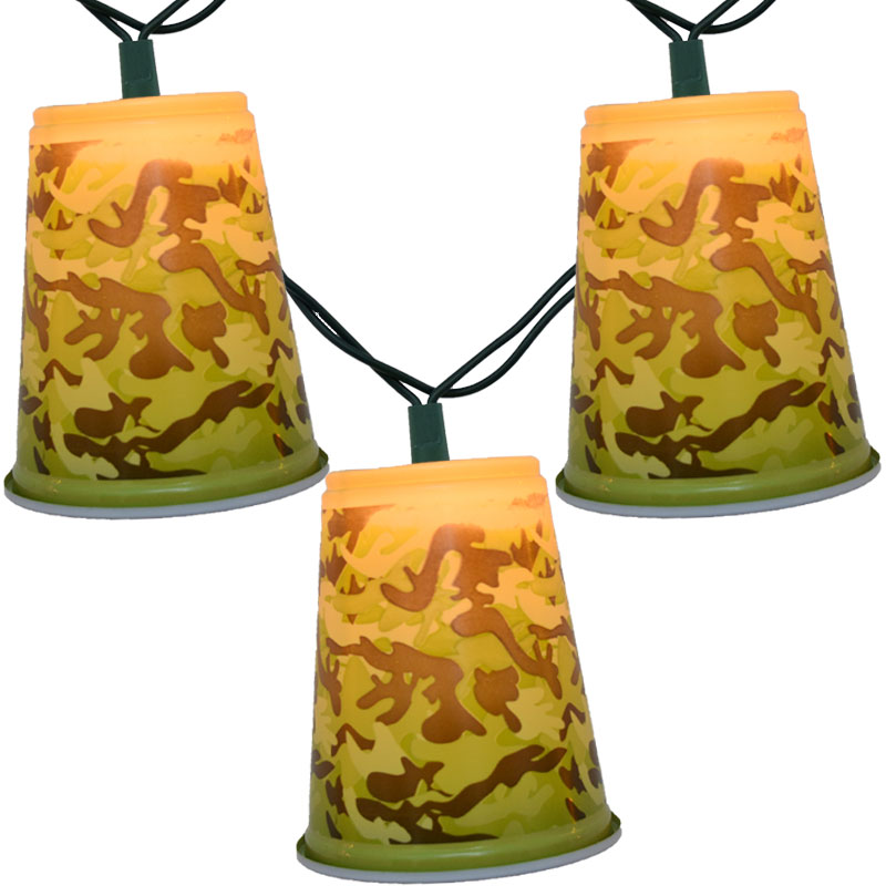 Camouflage Solo Cup Party String Lights
