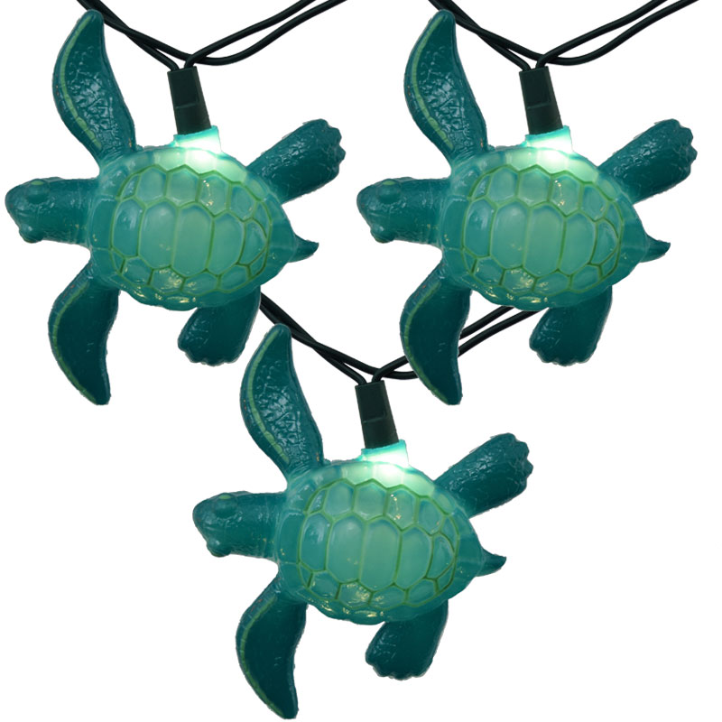 Tropical Sea Turtle Novelty Party Lights - 10 Lights