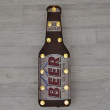LED Lighted Beer Bottle Wall Sign