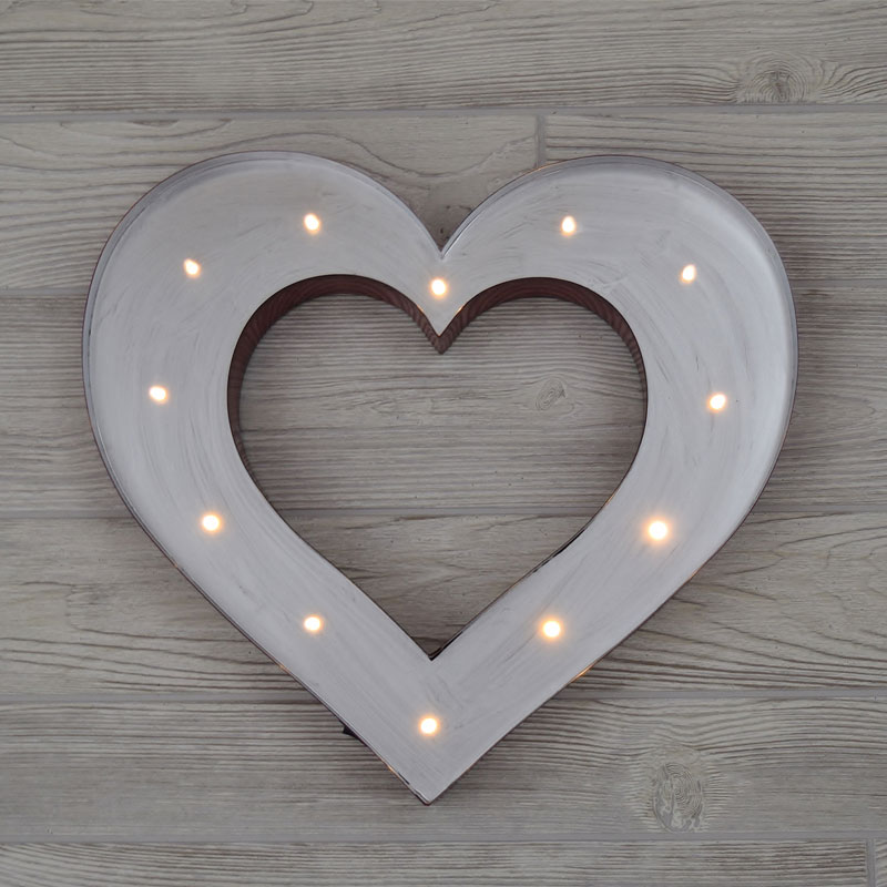 "14"" Red & Silver Lighted Heart Symbol"