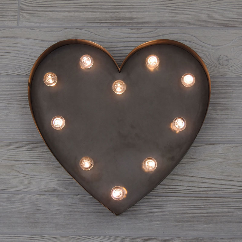 Heart Marquee Lighted Sign 14 Quot X 13 Quot