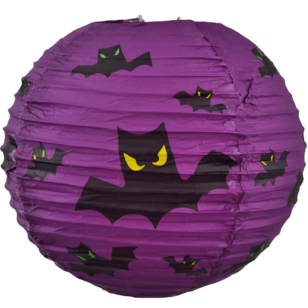 purple bat halloween lantern
