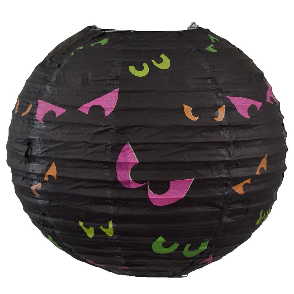 "Black/Eyes Halloween Lantern - 10"" Diameter"