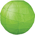 "Grass 10"" Round Rice Paper Lanterns - L2GR"
