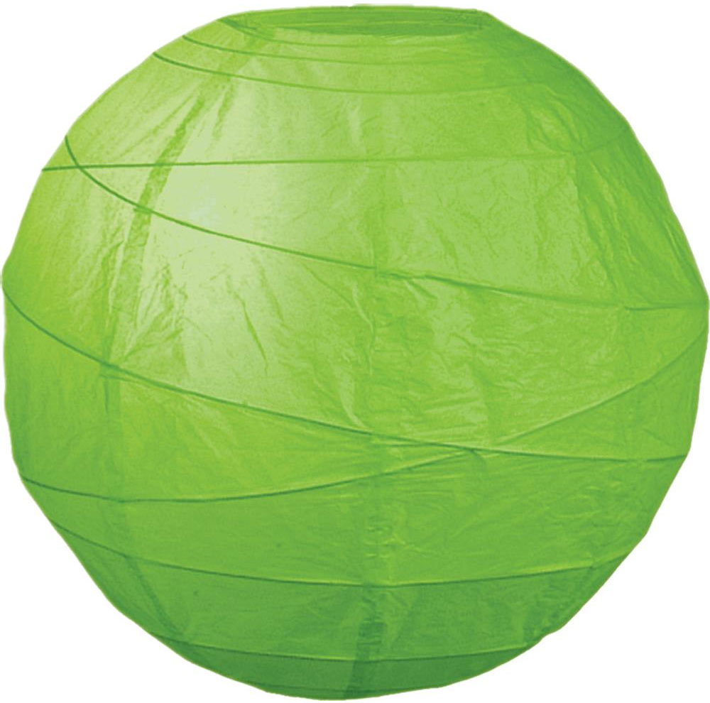"Grass 10"" Round Rice Paper Lanterns L2GR"