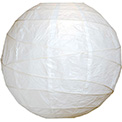 "White 10"" Round Rice Paper Lanterns - L2"