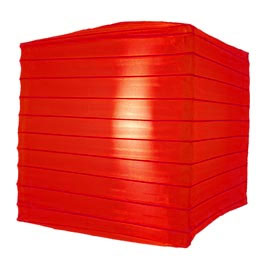 "Red 12"" Square Nylon Lantern AIS-SQRED12"