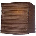 "Chocolate 10"" Square Rice Paper Lantern - LSQCL"