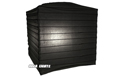"Black 10"" Square Rice Paper Lantern - LSQBLA"