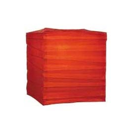 "Red 10"" Square Rice Paper Lantern LSQRE"