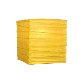 "Yellow 10"" Square Rice Paper Lantern - Square Paper Shade Lanterns"