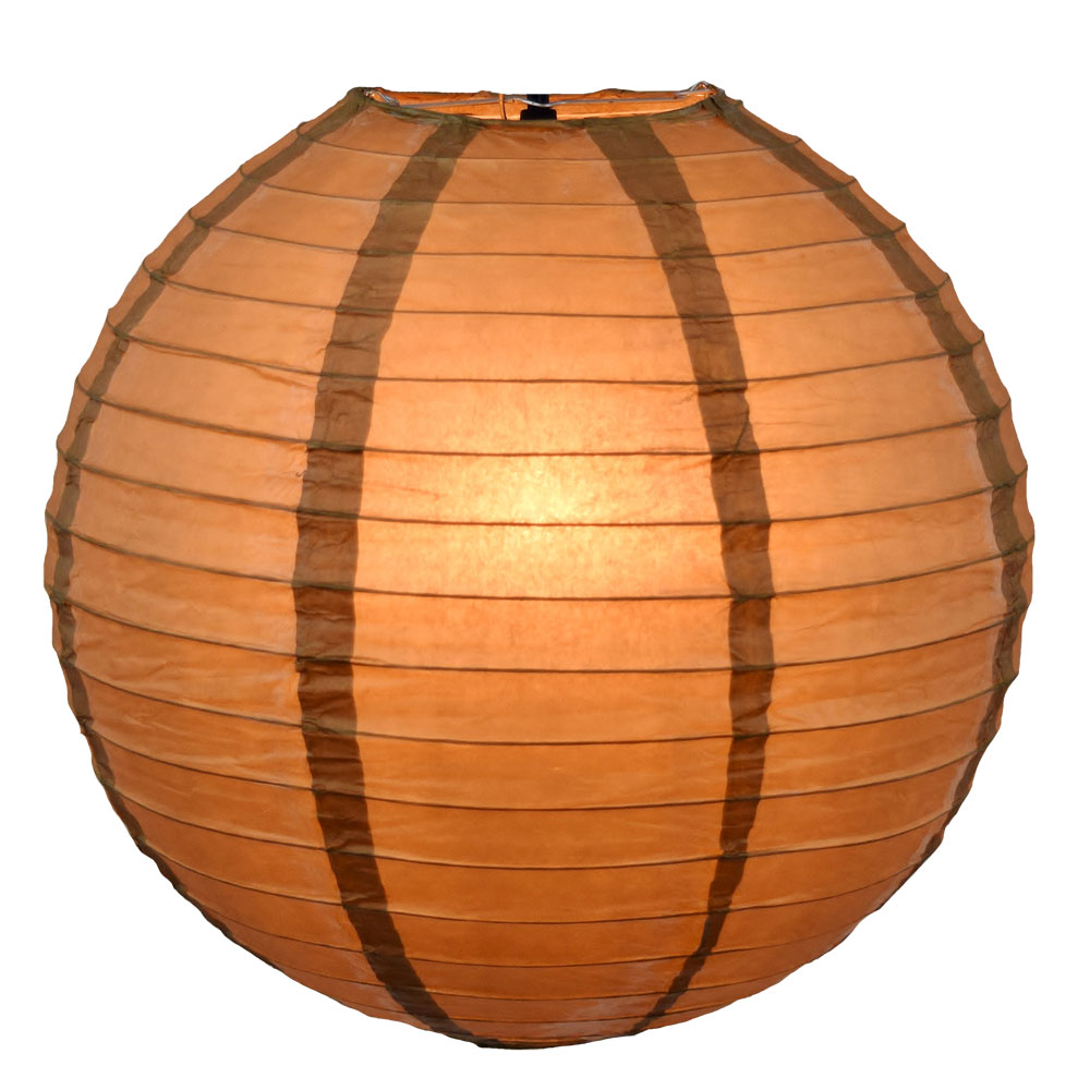 gold round paper lantern light