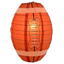 Football Shaped Paper Lantern