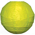 "Chartreuse 14"" Round Rice Paper Lantern - L14CH"