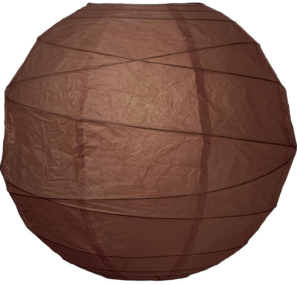 "Chocolate 14"" Round Rice Paper Lantern L14CL"