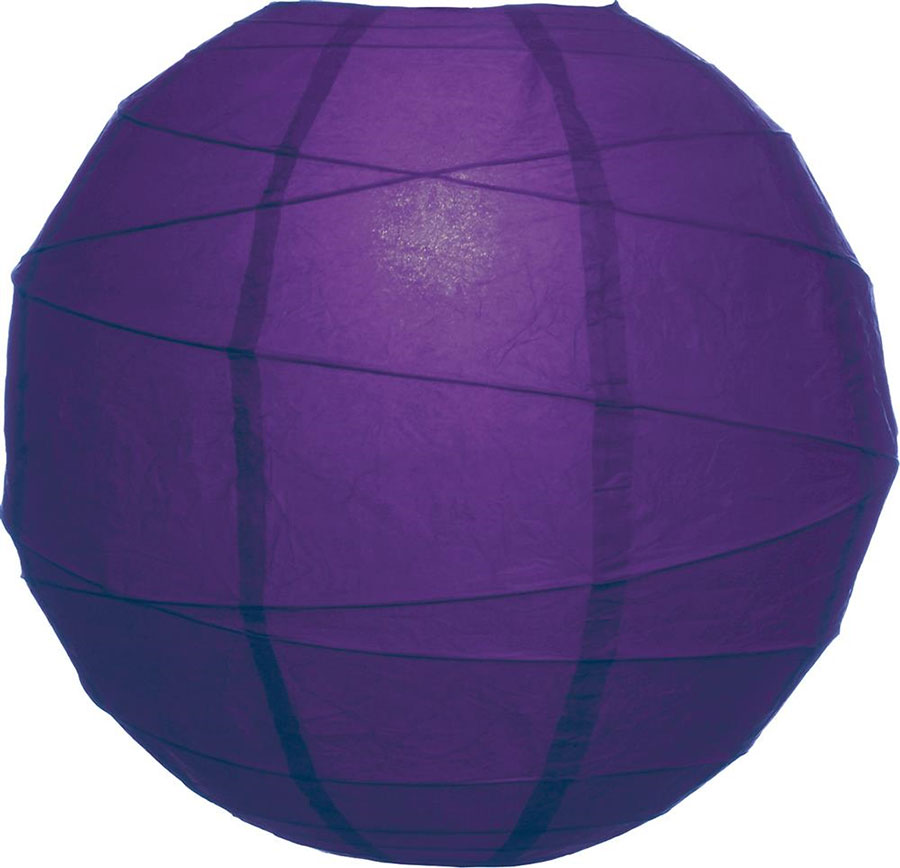 Plum Purple 14 Quot Round Rice Paper Lantern Solid Color