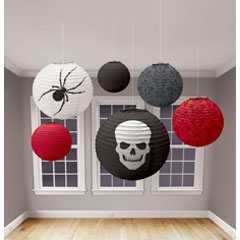 Halloween Paper Lantern Value Pack - Red/Black AI-0987