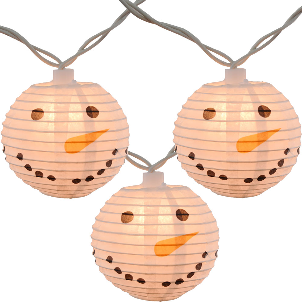 Snowman Head Christmas String Lights