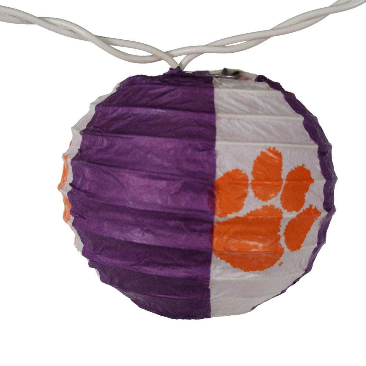 String Lights Tiger : Clemson University Paper Lantern String Lights