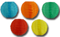 Multicolor Flatpack Nylon String Light Lanterns - SH51F