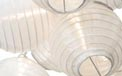 White Flatpack Nylon String Light Lanterns - SH50F