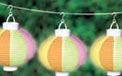 Garden Party Rice Paper Shade Battery Operated String Light Lanterns - 3 Pack - AI-0657