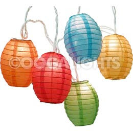 Kawaii Shaped Multi-Color Paper String Light Lanterns - Mini Paper Shade Stringlight Lanterns
