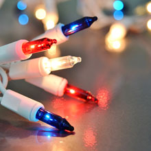 Red, White & Blue String Lights - White Wire - 50-Count DR-704354