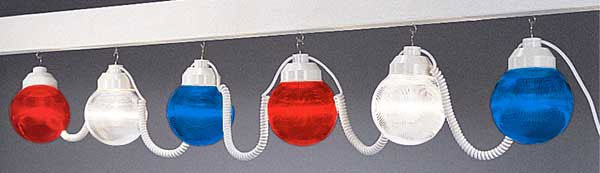Patriotic Globe String Lights - Set of 6