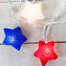 Red, White & Blue Star String Lights - 10 Count PD-724FY113