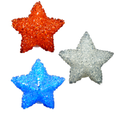 Red White & Blue Star Lights - 10 Count
