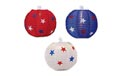 Patriotic Fabric Globe Paper String Light Lanterns