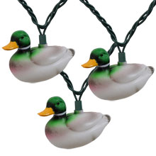Mallard Duck Party String Lights - 10 Lights
