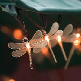 Wire Mesh Dragonfly Party String Lights Animal String