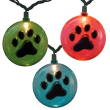 Paw Print Party String Lights - 10 Lights
