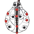 Beaded Wire Ladybug Lantern Party String Lights - 819500