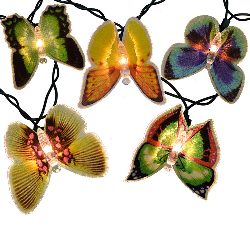 Butterfly Party String Lights : Butterfly Party String Lights - Fiberoptic - 10 Lights