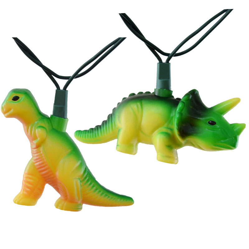 Dinosaur Party String Lights - 12 Feet - 10 Lights