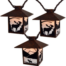 Wild Moose Lantern Party String Lights - 10 Lights - 10 Feet EG412