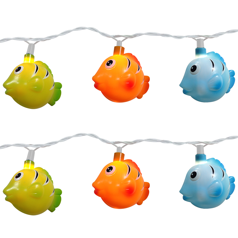 Colorful tropical fish party string lights for Fish string lights