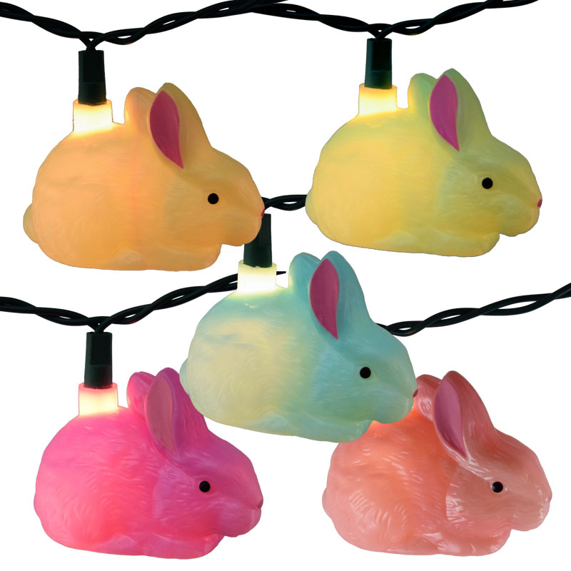 Easter Bunny String Lights - 10 Bunnies