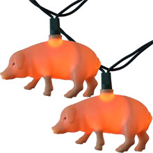 Piggies Party String Lights