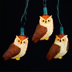 UL4235 Brown Owl Party String Light Set - Oogalights.com - More Than 1,000 Party & String ...