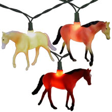 Walking Horses Party String Lights