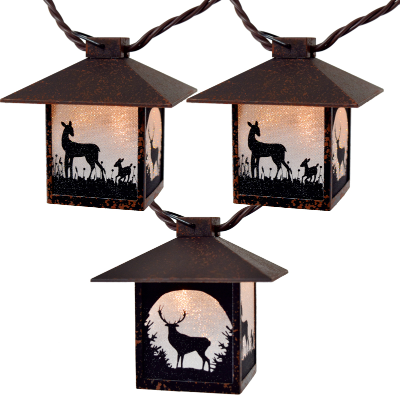 Deer Lantern Party String Lights