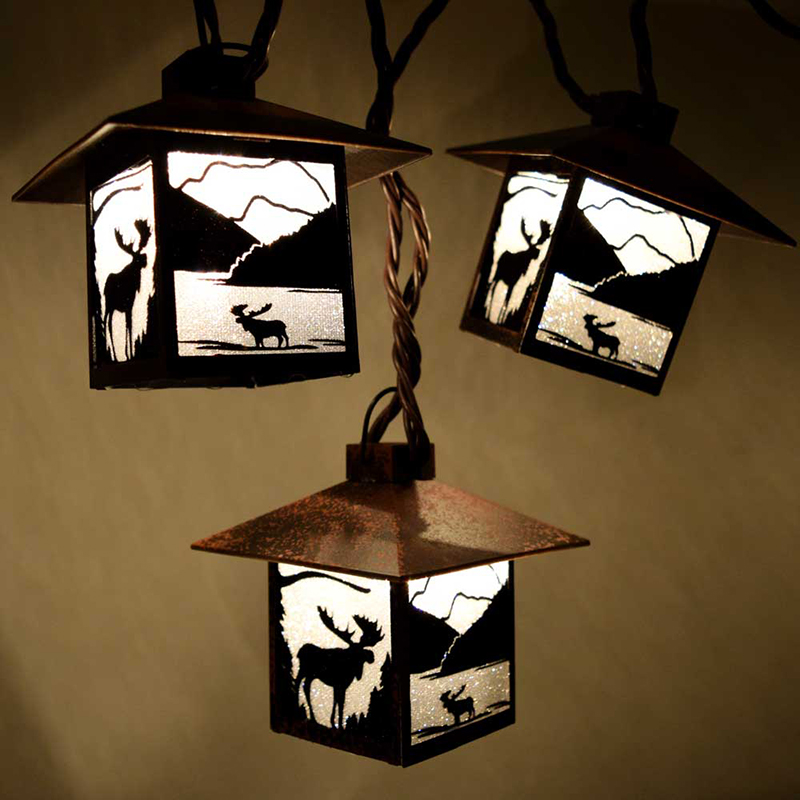 Wild Moose Party String Lights