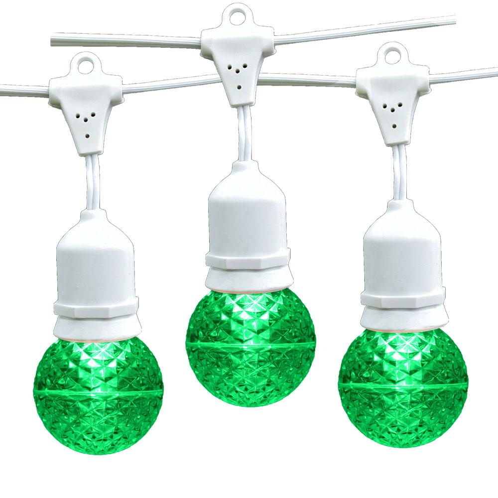 21 ft. Green G50 LED Globe Light Strand - Suspended White Wire